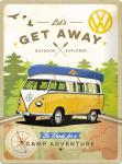 VW - Bulli - Let's Get Away! Blechschild, 30 x 40 cm