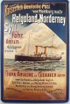 Kaiserlich Deutsche Post - Helgoland-Norderney Blechschild