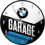 BMW - Garage Wanduhr (Echtglas)
