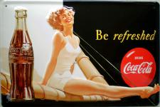 Coca Cola Be refreshed Blechschild