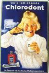 Chlorodont vor allem abends Blechschild