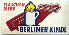 Berliner Kindl Flaschenbiere, weiss Blechschild