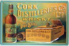 Cork Destilleries Whisky Blechschild