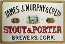 Murphy & Co Stout & Porter Blechschild