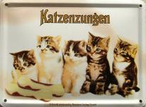 Katzenzungen Mini Blechschild