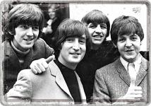 Blechpostkarte The Beatles - Photo