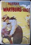 Blechpostkarte Wartburg Rad