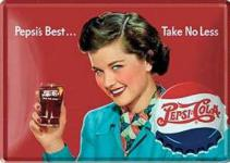 Blechpostkarte Pepsi Cola Pepsis Best (Glas)