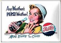 Blechpostkarte Pepsi Cola Any Weather