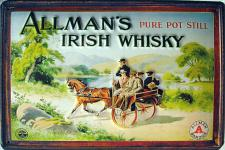 Allman's Irish Whisky Blechschild