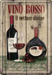 Blechpostkarte Vino Rosso