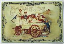 Blechpostkarte Marsh & Co's Bisquits
