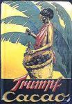 Blechpostkarte Trumpf Cacao