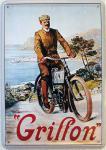 Blechpostkarte Griffon Fahrrad