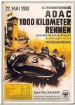 Blechpostkarte ADAC 1000 km Rennen Nürburgring