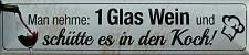 Magnet Man nehme: 1 Glas Wein