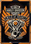 Blechpostkarte Harley-Davidson - Wild At Heart