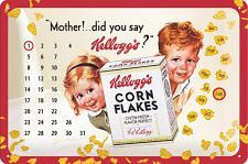 Kellogg's Mother! Kalender Blechschild