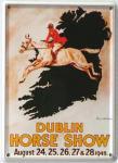 Dublin Horse Show Mini Blechschild