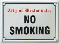 No Smoking Mini Blechschild