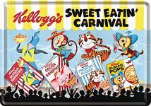 Blechpostkarte Kelloggs Sweet Eatin Carnival