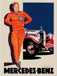 Magnet Mercedes-Benz - Woman in red