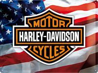 Harley-Davidson USA Logo Blechschild