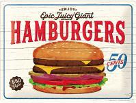 Hamburgers Blechschild, 40 x 30 cm
