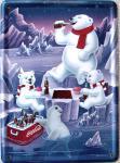 Coca Cola Eisbären Familie Mini Blechschild