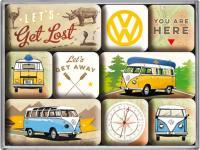 Magnet-Set VW Bulli Lets get lost