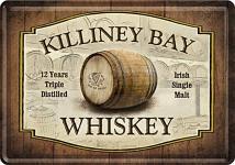 Blechpostkarte Killiney Bay Whiskey