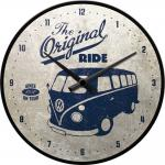 VW Bulli - the original ride Wanduhr (Echtglas)