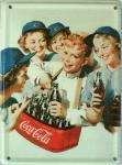 Coca Cola Bauchladen Mini Blechschild