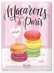 Macarons Blechschild