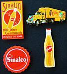 Sinalco Mini-Blechschild-Set (4er Set)