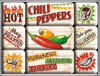 Magnet-Set Chili Peppers