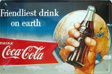 Coca Cola Friendliest Drink On Earth Blechschild