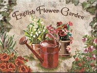 Magnet English Flower Garden - Red Can