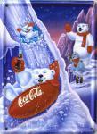 Coca Cola Eisbären Rodelbahn Mini Blechschild