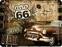 Route 66 - Road Trip Blechschild, 20 x 15 cm