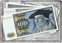 Blechpostkarte D-Mark Scheine