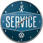 VW - Service Wanduhr (Echtglas)