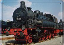 Blechpostkarte Lokomotive 93230