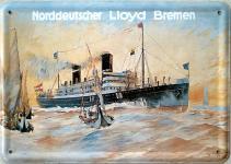 Blechpostkarte Norddeutscher Lloyd Bremen