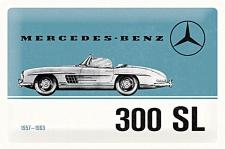 Mercedes-Benz - 300 SL blue Blechschild