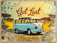 VW - Let's Get Lost Blechschild