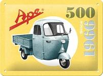 Ape - 500 Since 1966 Blechschild