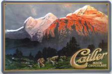 Cailler Berge Blechschild