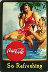 Coca Cola so refreshing Blechschild