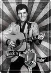 Blechpostkarte Elvis Rock'n Roll Baby